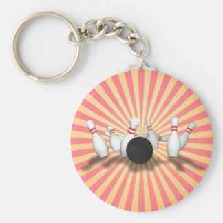 Bowlings-Ball u. Buttone: Modell 3D: Keychain Schlüsselanhänger
