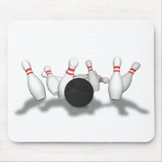 Bowlings-Ball u. Buttone: Modell 3D: Mousepads