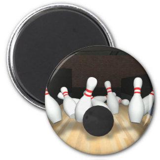 Bowlings-Ball u. Buttone: Modell 3D: Runder Magnet 5,7 Cm
