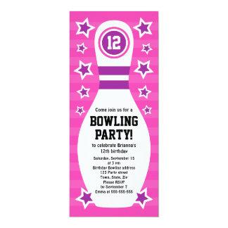 Bowlings-Button-Geburtstags-Party Einladung mit