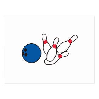 Bowlings-Buttone Postkarte