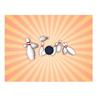 Bowlings-Buttone: Vektorzeichnen: Postkarte