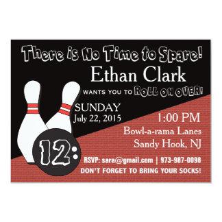 Bowlings-Einladung für jeder! 12,7 X 17,8 Cm Einladungskarte