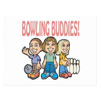 Bowlings-Freunde Postkarte