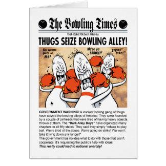 Bowlings-Gassen-Jungen-Gruß-Karte Karte