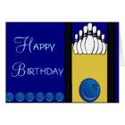 Bowlings-Geburtstag Karte