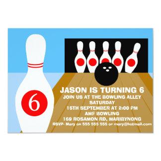 Bowlings-Geburtstags-Einladung das Zehn-Button der 11,4 X 15,9 Cm Einladungskarte