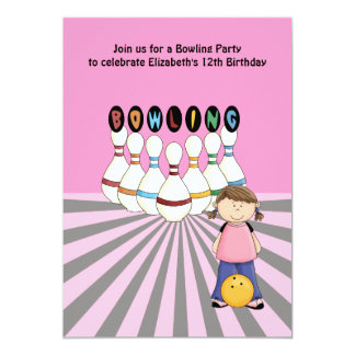 Bowlings-Geburtstags-Party Einladung