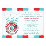 Bowlings-Geburtstags-Party lädt ein,/Junge oder Individuelle Einladungskarten