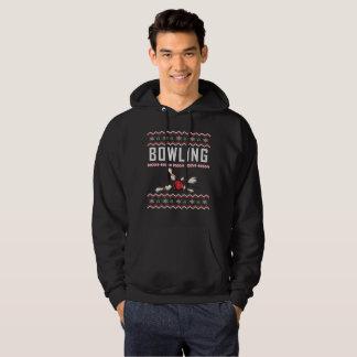 Bowlings-hässliche Weihnachtsstrickjacke Hoodie