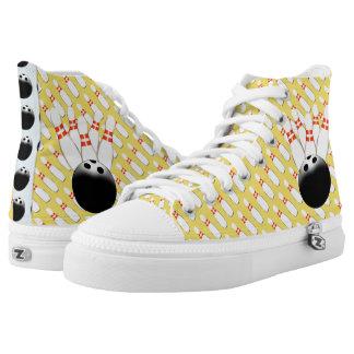 Bowlings-hohe Spitzenturnschuhe Hoch-geschnittene Sneaker