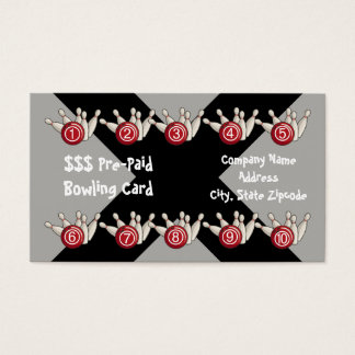 Bowlings-im Voraus bezahlte Visitenkarte