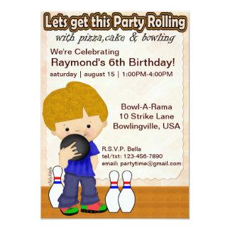 Bowlings-Jungen-Party laden ein 12,7 X 17,8 Cm Einladungskarte