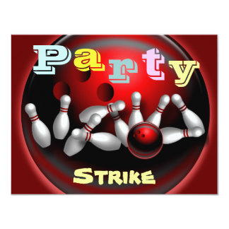 Bowlings-Party Einladungen