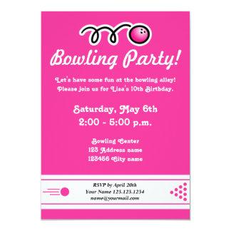 Bowlings-Party Einladungen für den Geburtstag des