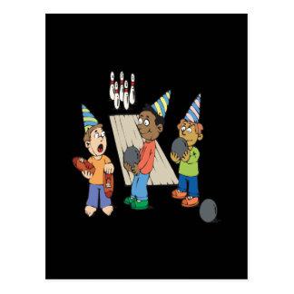 Bowlings-Party Postkarte