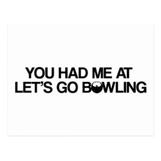 Bowlings-Produkte Postkarte