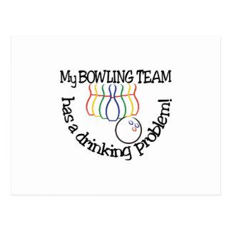 Bowlings-Team Postkarte