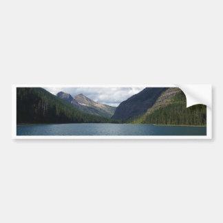 Bowman See - Glacier Nationalpark Montana Autoaufkleber