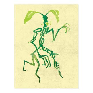 Bowtruckle Typografie-Grafik Postkarte