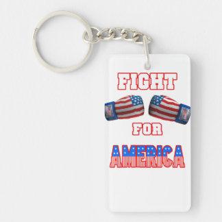 Boxen - Kampf für Amerika Einseitiger Rechteckiger Acryl Schlüsselanhänger