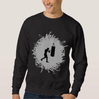 Boxende Gekritzel-Art Sweatshirt