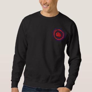 Boxendes rotes Blaues und weiß Sweatshirt