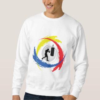 Boxendes Tricolor Emblem Sweatshirt