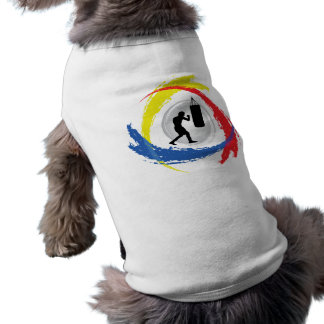 Boxendes Tricolor Emblem T-Shirt