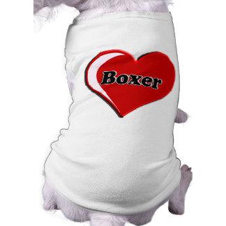 Boxer auf Herzen für Hundeliebhaber Shirt