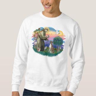 Boxer (brindle-natürliche Ohren) Sweatshirt