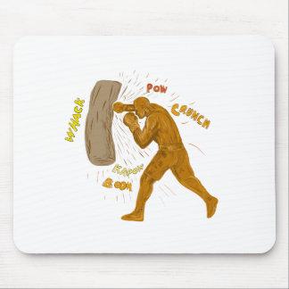 Boxer, der das lochende Taschen-Zeichnen schlägt Mousepad