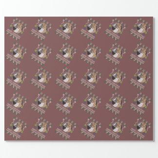 Boxer-frohe Weihnacht-hässliche Strickjacke Geschenkpapier
