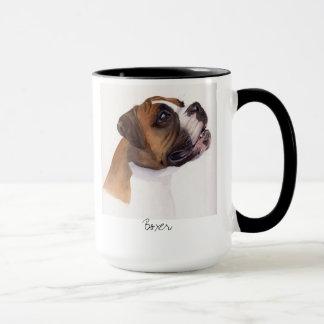 Boxer gemalt in der Wasserfarbe-Tasse Tasse
