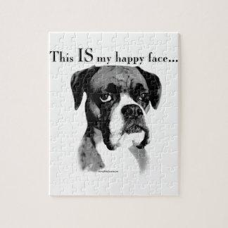 Boxer-glückliches Gesicht Puzzle