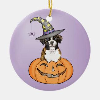 Boxer Halloween Keramik Ornament