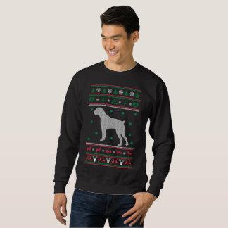 Boxer-hässliche Weihnachtsstrickjacke Sweatshirt