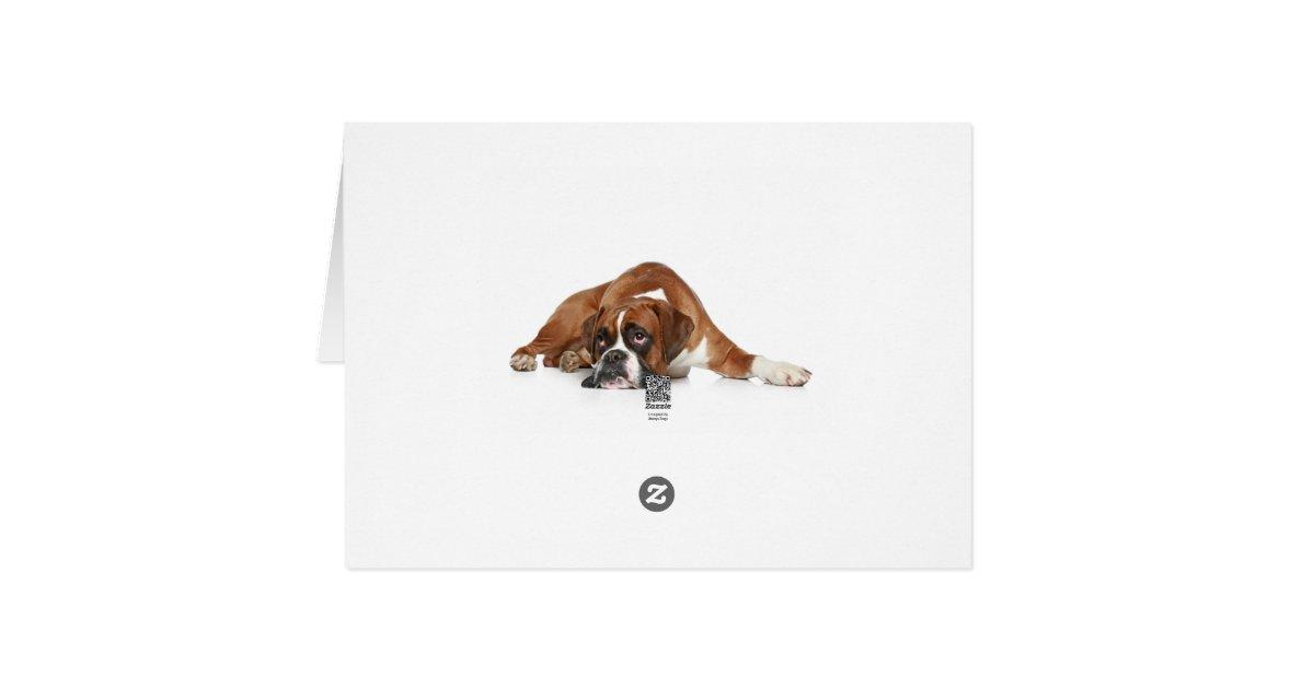 boxer hund danken ihnen notecard danke nach mitteilungskarte zazzle. Black Bedroom Furniture Sets. Home Design Ideas