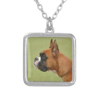 Boxer-Hund Versilberte Kette