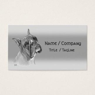Boxer-Hund Visitenkarte