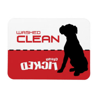 Boxer-Hund, Welpen-Spülmaschinen-Magnet - Magnet
