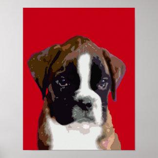 Boxer-Hündchen Poster