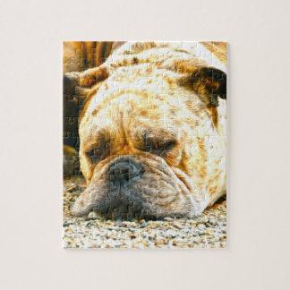Boxer-Hündchen-Wasser-Farbölfarbe-Kunst Puzzle