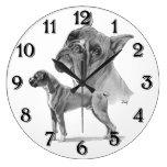Boxer-Hunde Uhr