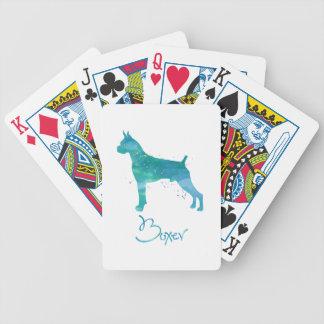 Boxer-HundeAquarell Bicycle Spielkarten