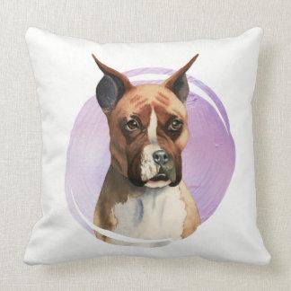 Boxer-HundeAquarell-Malerei Kissen