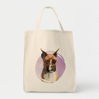 Boxer-HundeAquarell-Malerei Tragetasche
