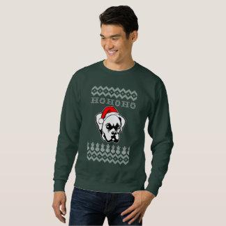 Boxer-Hundehässliches Weihnachten Ho Ho Ho Sweatshirt