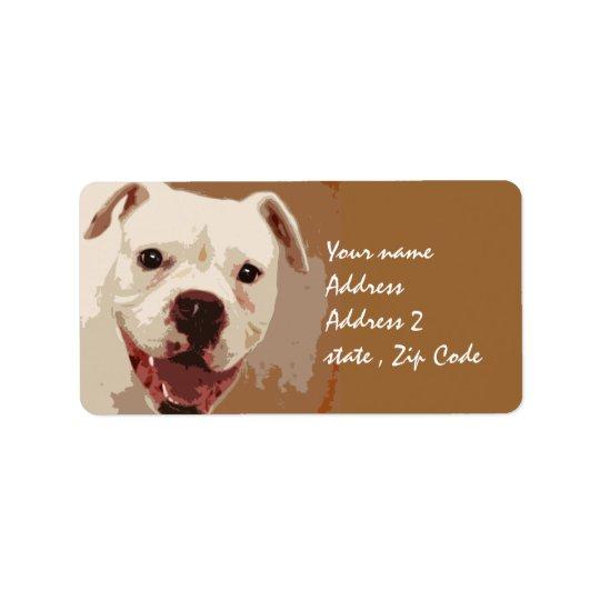 Boxer-Hundekunst Adressaufkleber