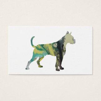 Boxer-Hundekunst Visitenkarte